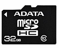 Карта памяти A-Data MicroSDHC 32GB Class 10