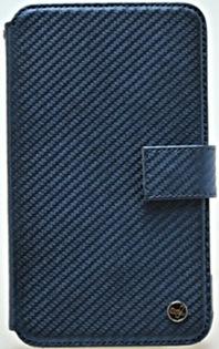 Чехол Zenus Prestige Carbon Diary Blue