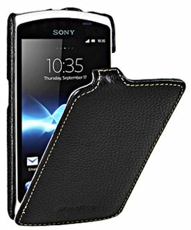 Стильный чехол для Sony Xperia neo L Melkco из натуральной кожи